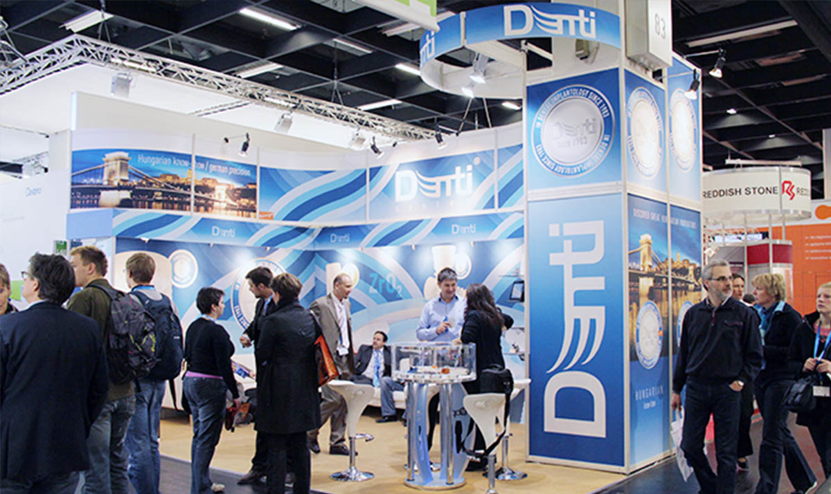 Denti system nemzetközi márkaépítés a kölni IDS Dental Show kiállításon