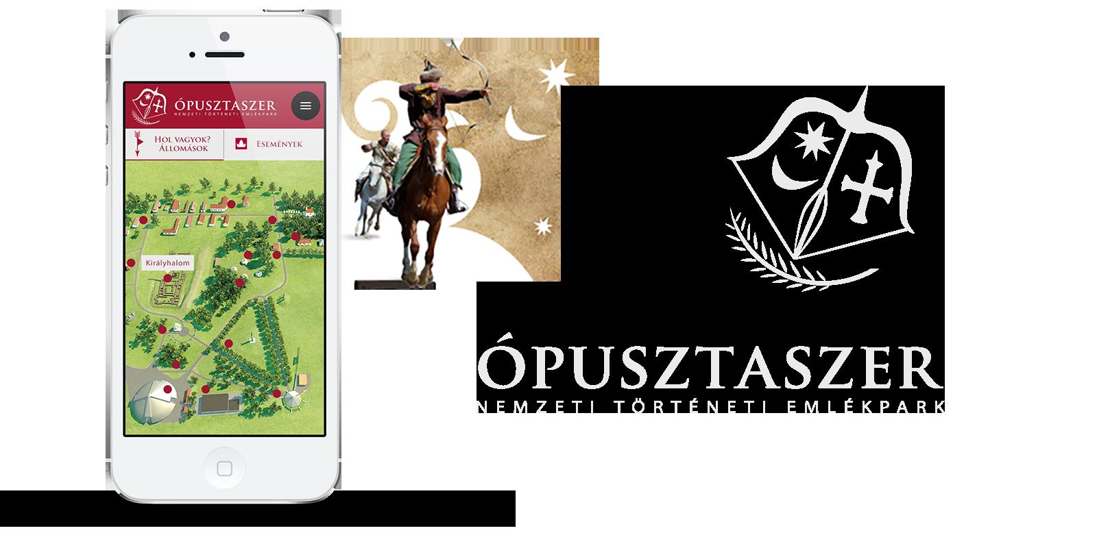 Az interaktív kiállítás projekthez kapcsolódó mobil aplikáció látványterve